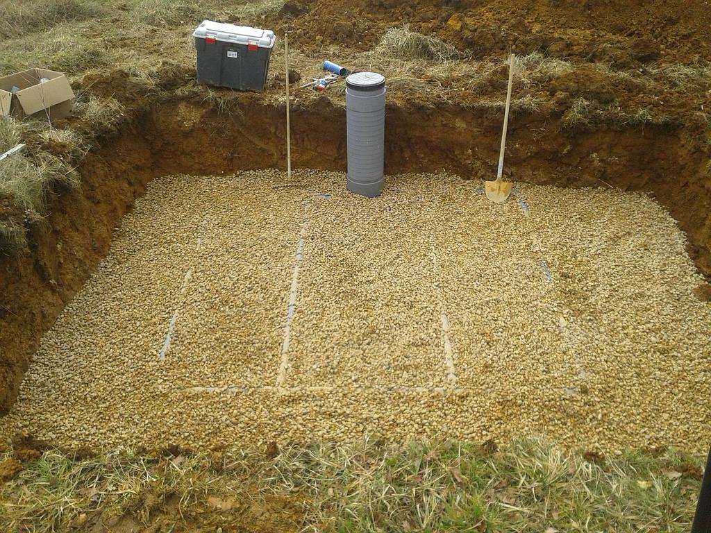 Maçonnerie Deves Frères - Filtre a sable de la fosse septique
