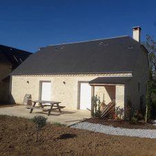 Extension de maison, en pierre naturelle