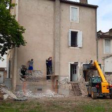 Création d'ouvertures, sur la partie gauche de la maison (1)