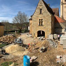 Un beau Projet : début des travaux de maçonnerie vu de haut