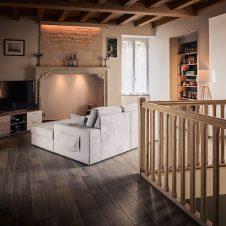 Un beau Projet : salon fini après coulage de la dalle de béton, quel bel intérieur