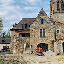 travaux de maçonnerie à Saint Martial de Nabirat, presque terminés